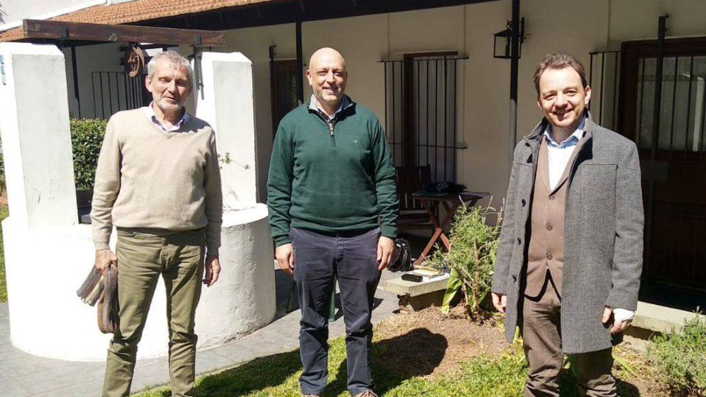 Manfred Steffen, Rafael Radi y Sebastian Grundberger
