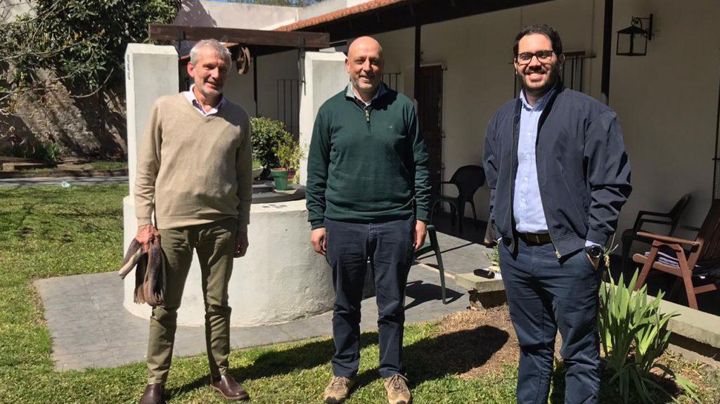Manfred Steffen, Rafael Radi y Ángel Arellano